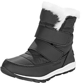 Sorel Whitney Short Hook-and-Loop Botas Niños, black/sea salt